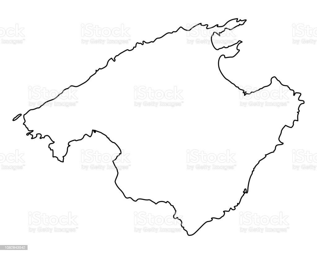 karte von mallorca stock vektor art und mehr bilder von deutschland istock