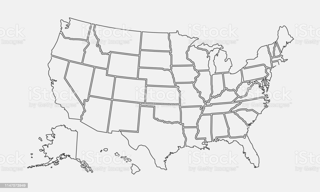 It's hard enough managing your own time. Usa Map Outline United States Vector Blank Map Us Line Map Template Stock Illustration Download Image Now Istock