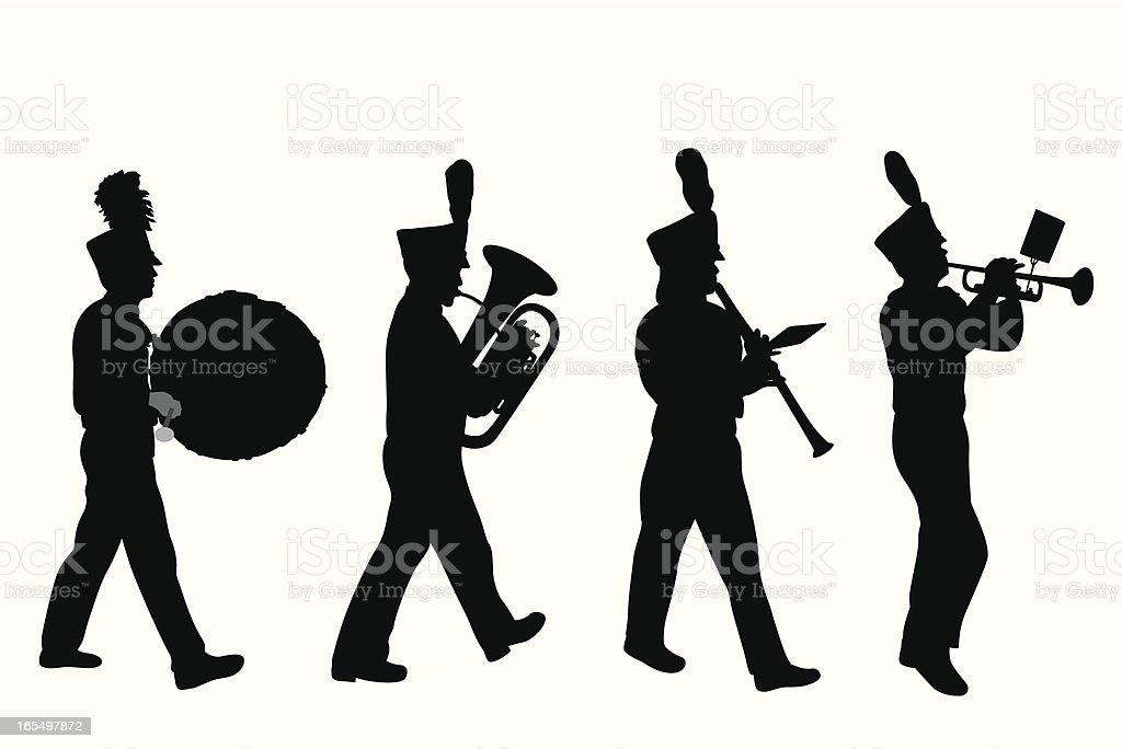 Marching Band Vector Silhouette Stock Vector Art & More