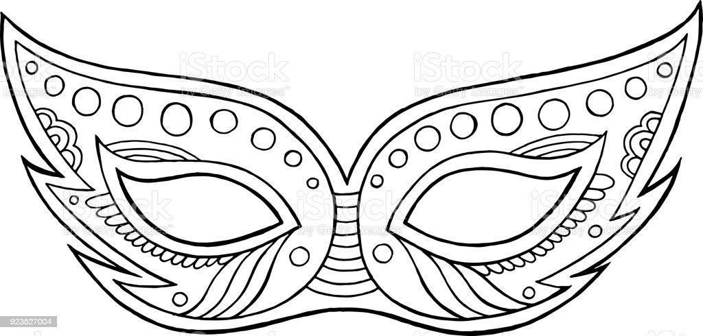 Ilustración de Máscara De Carnaval Elemento Aislado Del