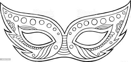 Malvorlagen Masken Karneval   Coloring and Malvorlagan