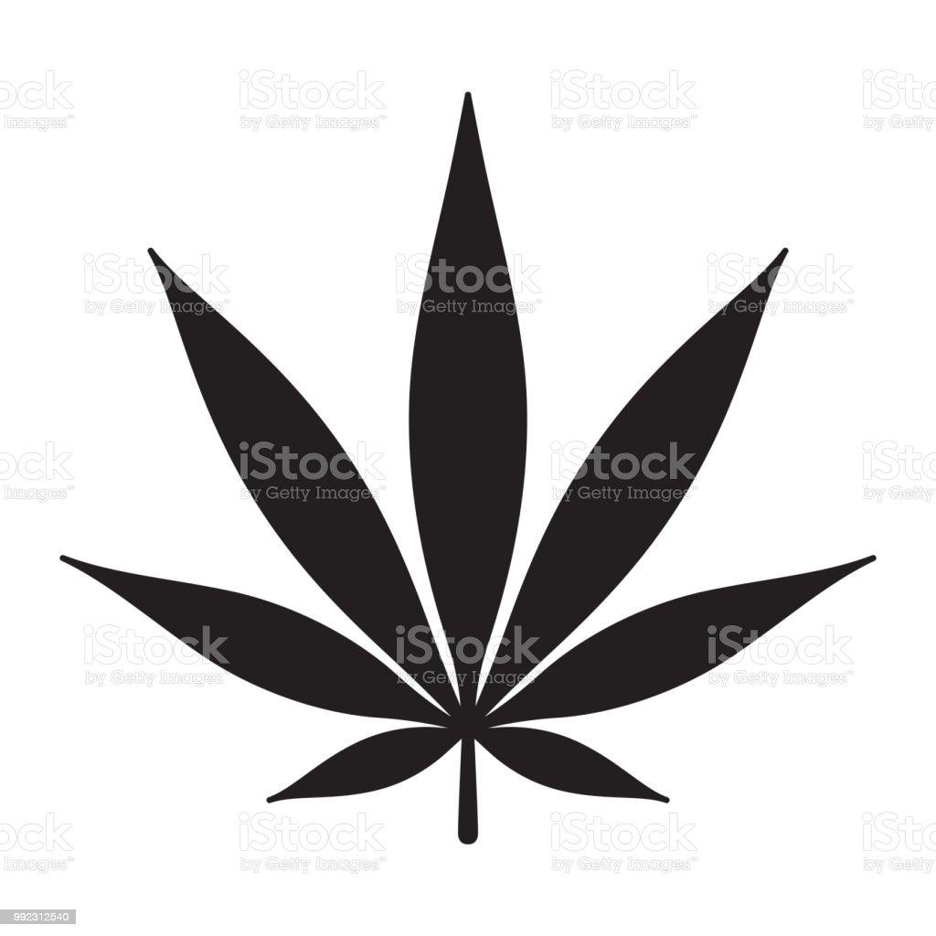 Marijuana Vector Cannabis Weed Leaf Logo Icon Clip Art Illustration Graphic  Immagini
