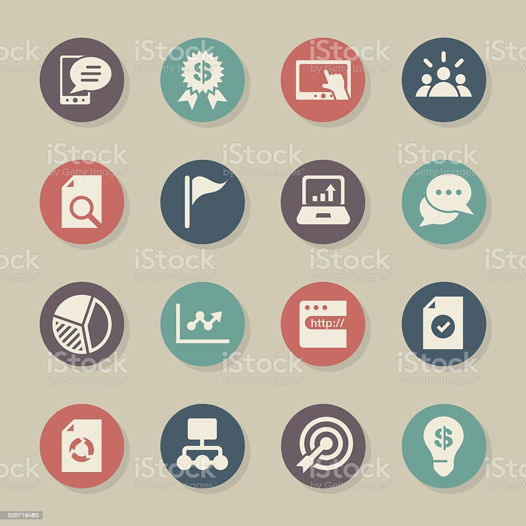Marketing Icons Color Circle Series Stock Illustration - Download Image Now - iStock