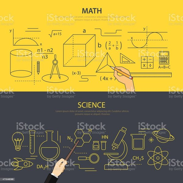 Math And Science Education Concept Stock Vector Art &