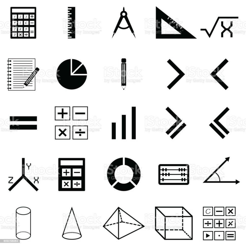 medium resolution of math icon set royalty free math icon set stock vector art amp more images