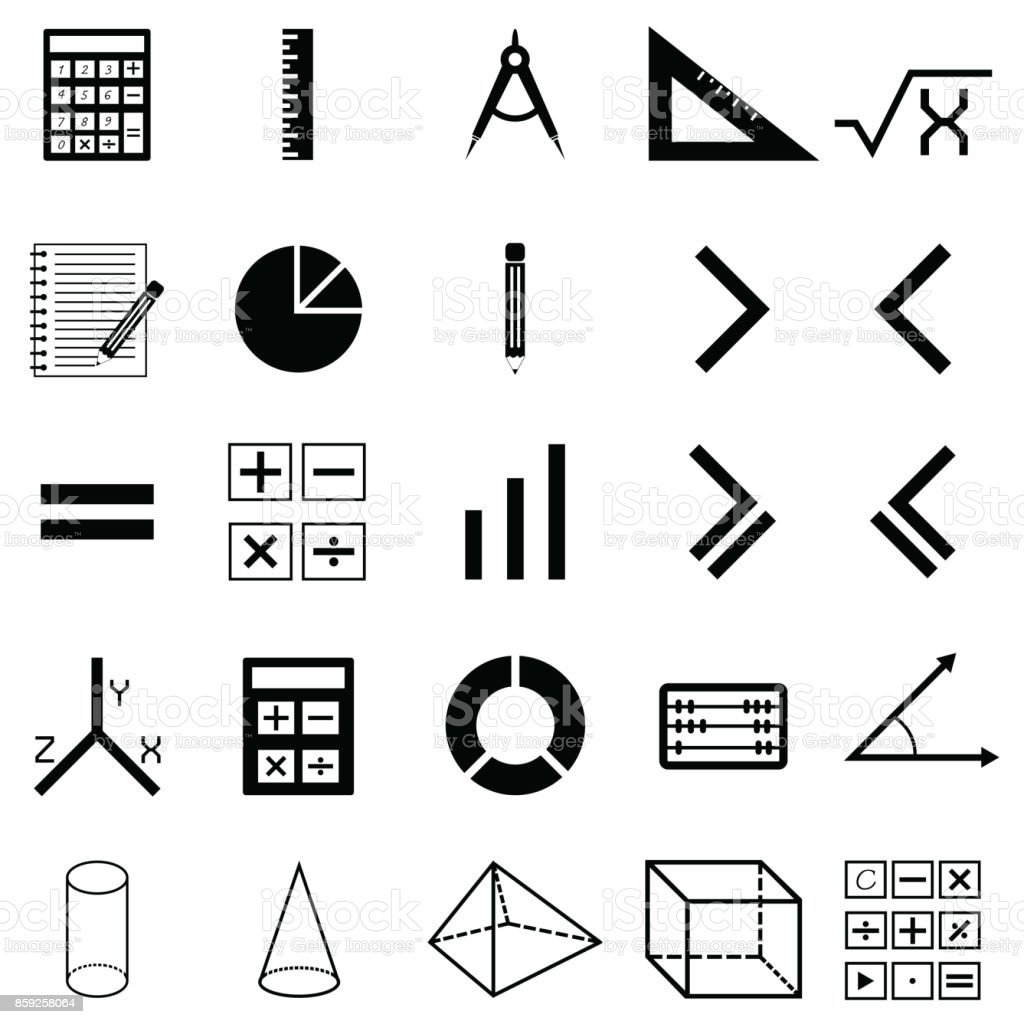 hight resolution of math icon set royalty free math icon set stock vector art amp more images