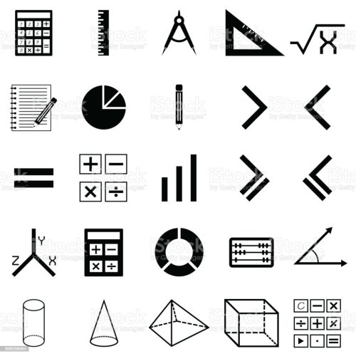 small resolution of math icon set royalty free math icon set stock vector art amp more images