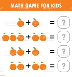 Mathematics Educational Game For Children Learning Counting Addition  Worksheet For Kids Math Addition Subtraction Puzzle Fruit Orange Trick  Question Solve Flat Vector Illustration Stock Illustration - Download Image  Now - iStock [ 1024 x 1019 Pixel ]
