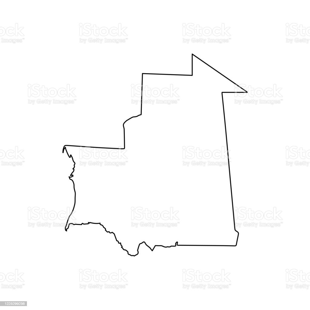 Mauritania Map Line Outline Country Africa Map Illustration Vector African Isolated On White Background Stock Illustration Download Image Now Istock