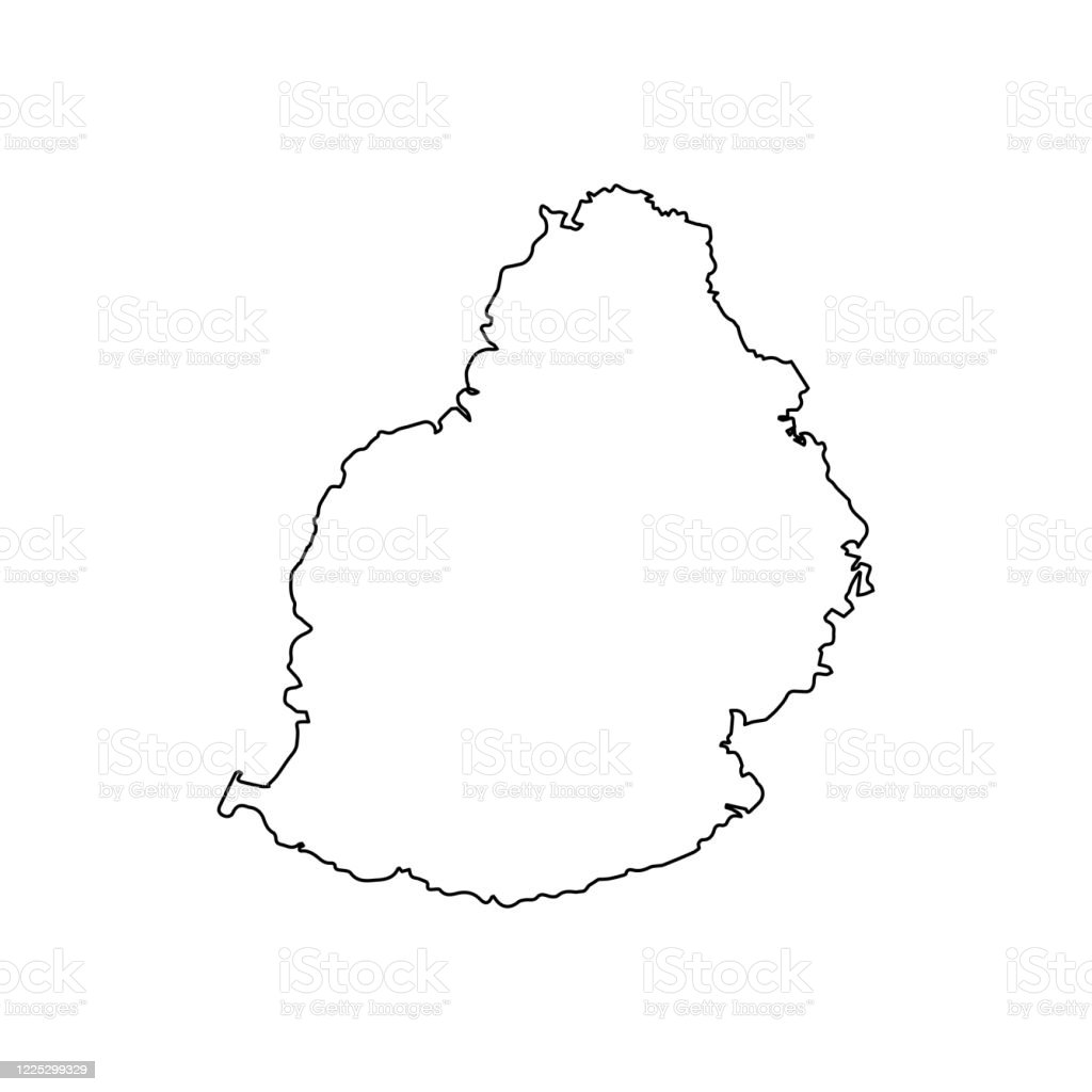 Mauritius Map Line Outline Country Africa Map Illustration Vector African Isolated On White Background Stock Illustration Download Image Now Istock