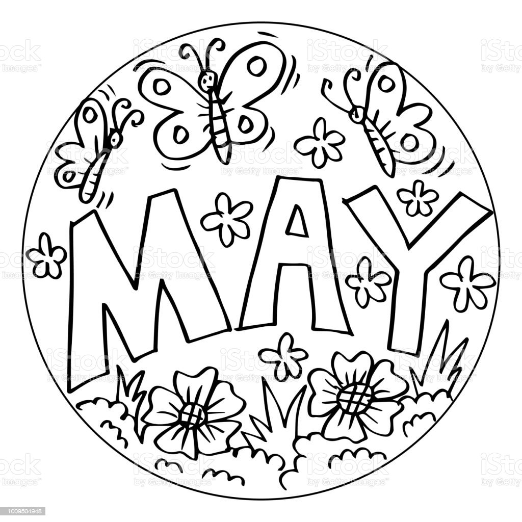 May Coloring Pages For Kids Keywords Language English