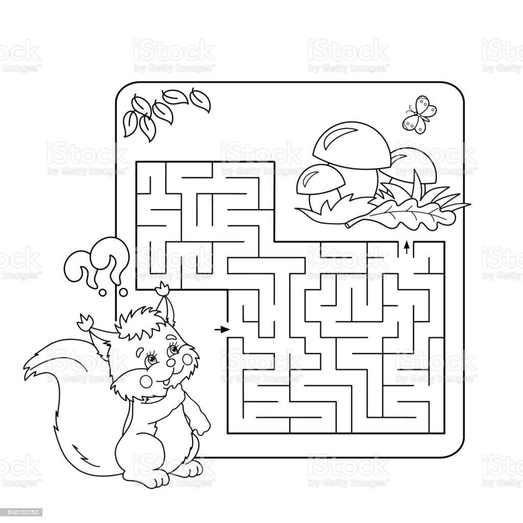 Labirinto Ou Labirinto Jogo Para Crianças Em Idade Pré