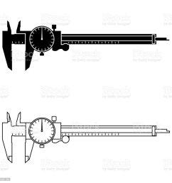 dial caliper vector illustration royalty free measuring tool dial caliper vector [ 1024 x 1024 Pixel ]