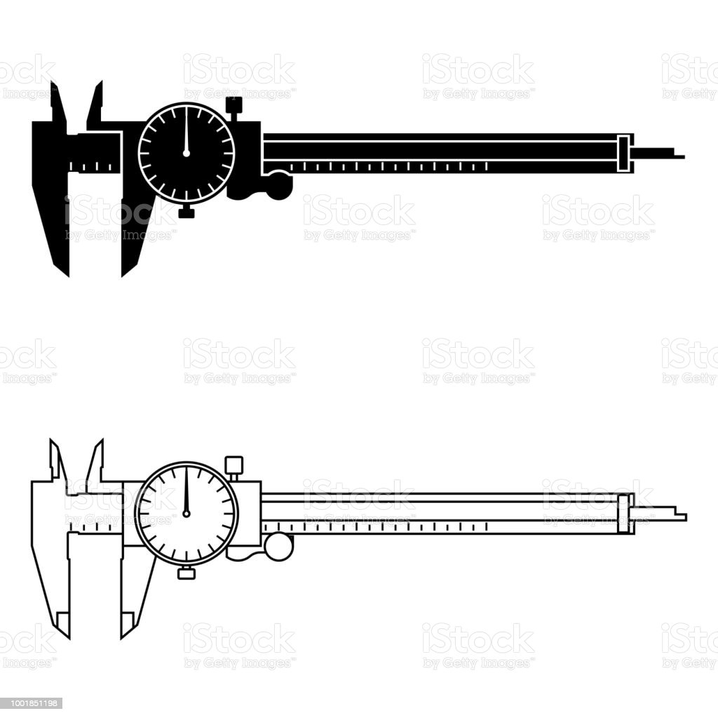 hight resolution of dial caliper vector illustration royalty free measuring tool dial caliper vector
