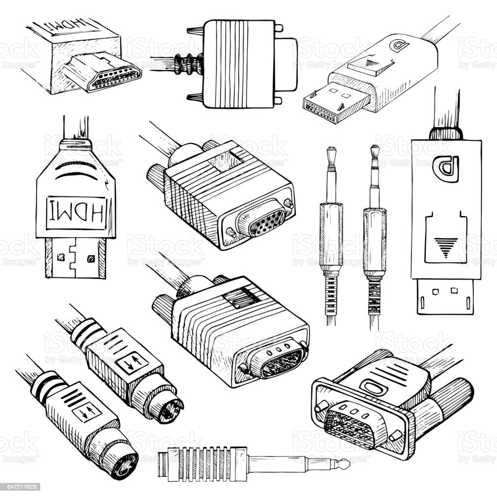 Media Cables Set Hdmi Vga Dvi Displayport Svideo Audio
