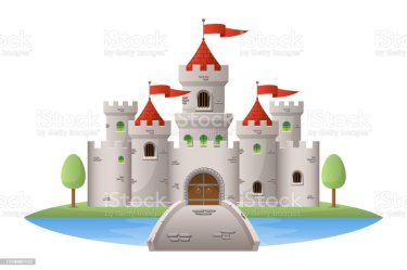 Medieval Castle Vector Design Illustration Isolated On White Background Stock Illustration Download Image Now iStock