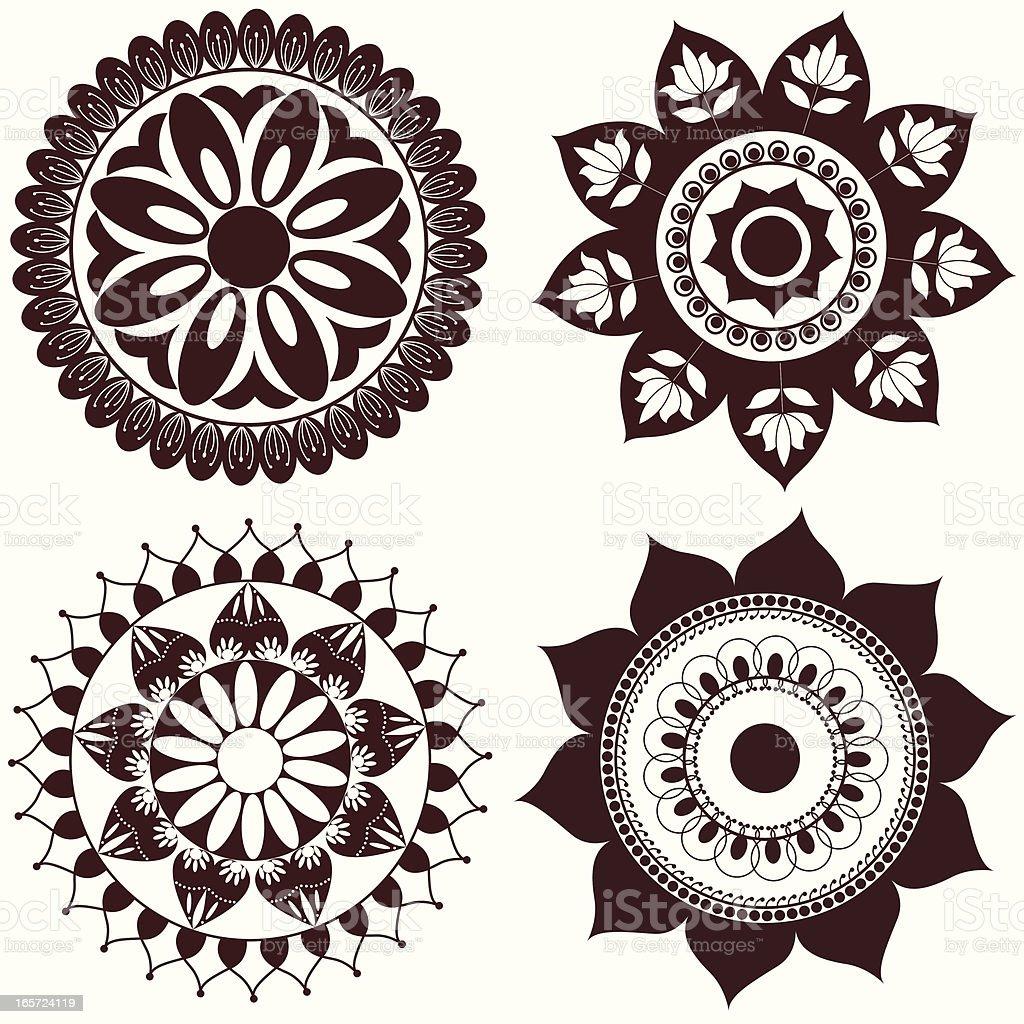 rangoli illustrations royalty-free