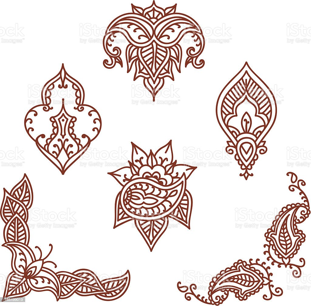 Mehndi Designs Stock Vector Art Amp More Images Of Brown