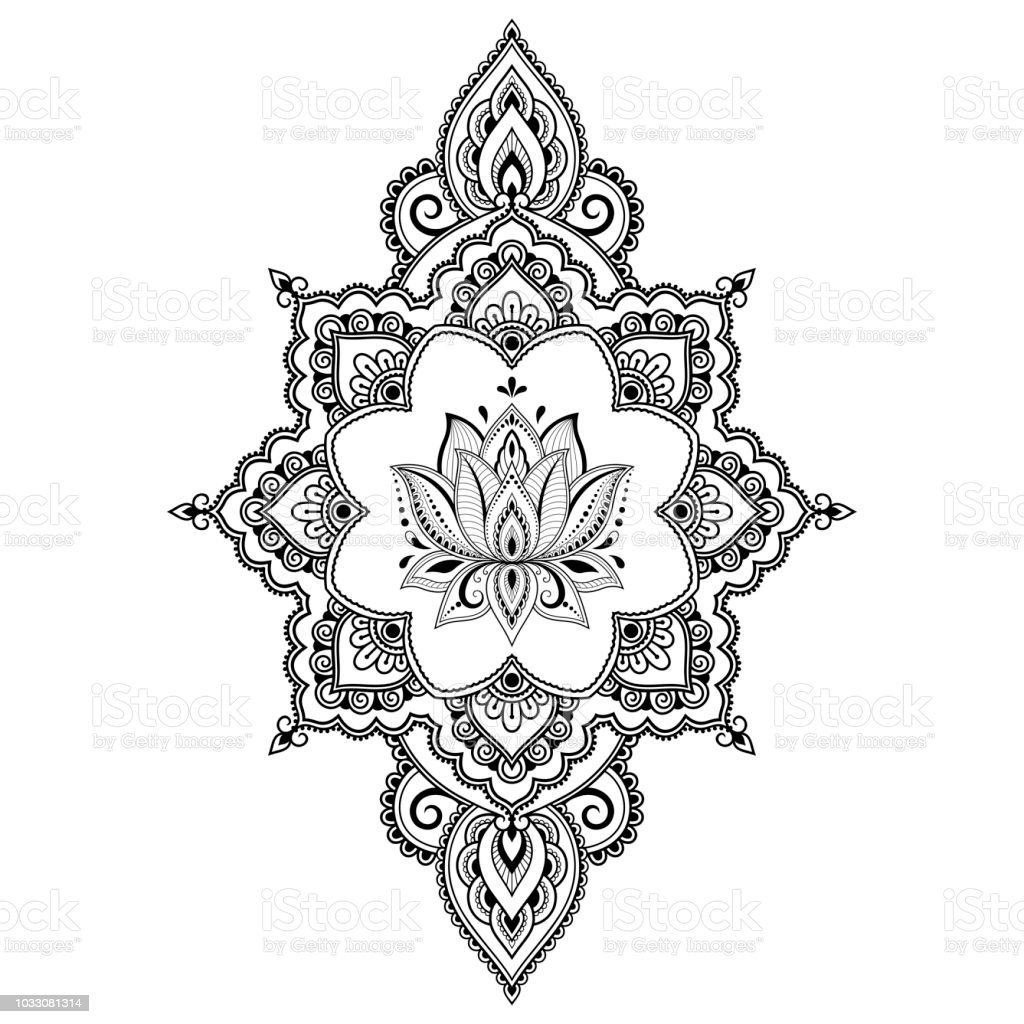 Mandala Lotus Flower Tattoo Drawing