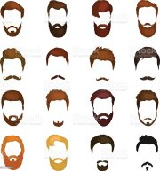 men cartoon hairstyles with beards