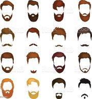 men cartoon hairstyles with beards