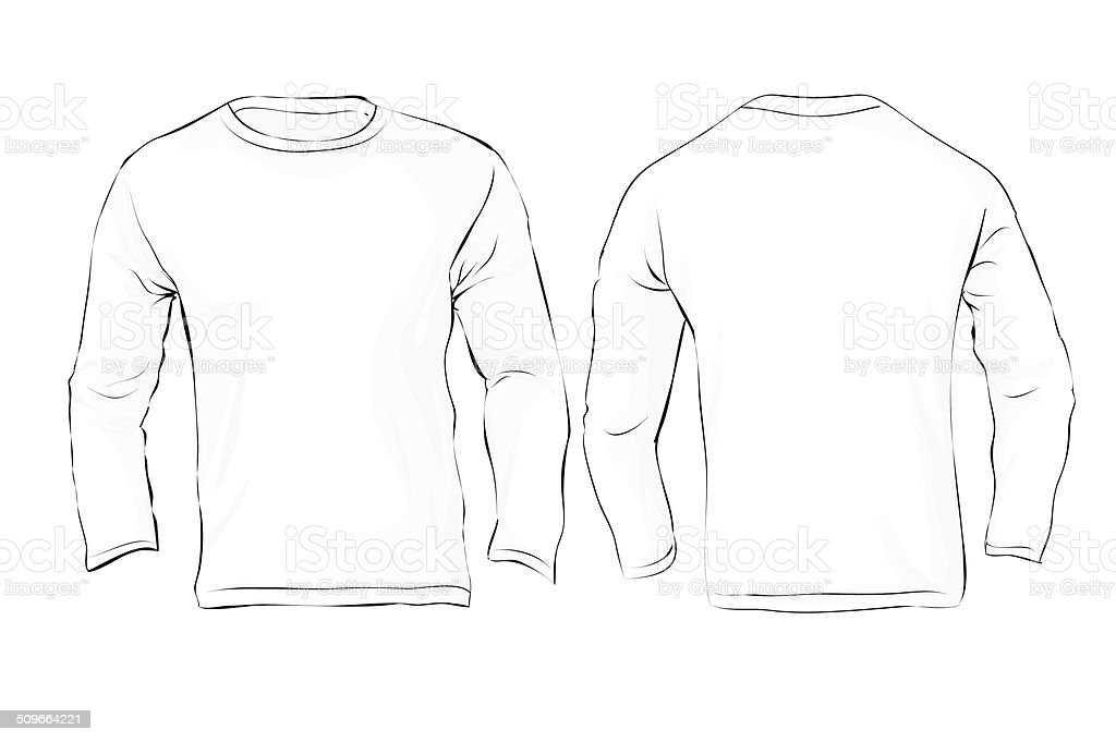 Long Sleeve T Shirt Template Vector Free Choice Image