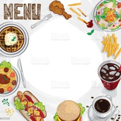 menu graphic template drawing illustrate vector objects breakfast culture thailand entertainment arts restaurant