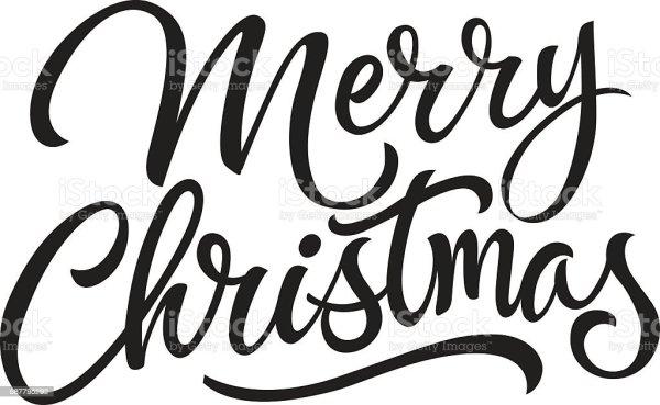 merry christmas lettering 2 stock