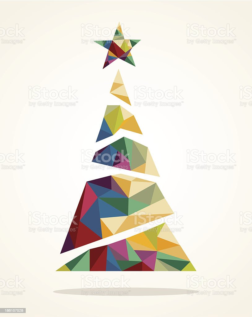 royalty free modern christmas tree