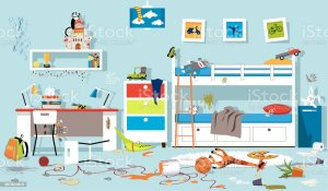 messy clipart dirty clean illustrations vector clip child being bedroom illustration children toys childrens cleaning things