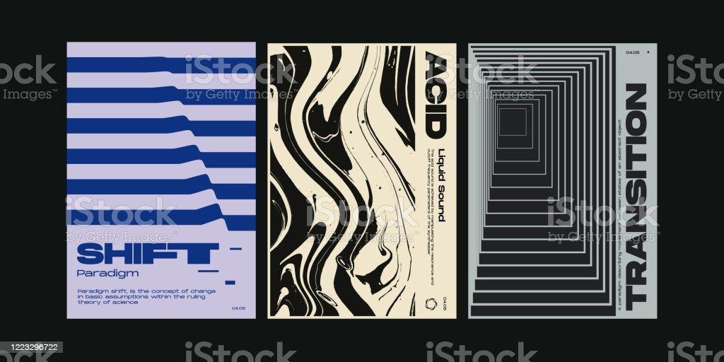meta modern swiss aesthetics poster design template stock illustration download image now istock