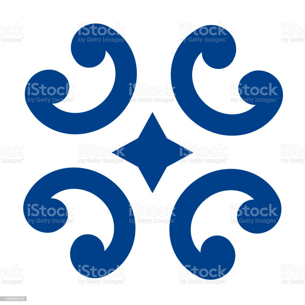 mexican talavera tile pattern ornament in traditional style from puebla in classic blue and white geometric ceramic tile folk art design from mexico stock illustration download image now istock