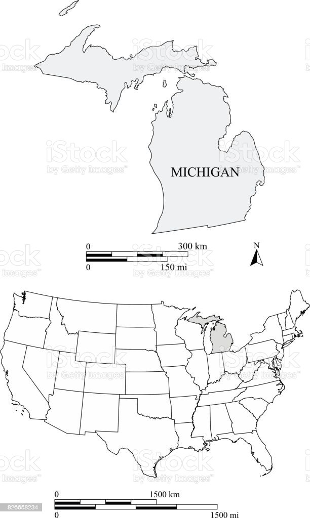 04/08/2020· michigan is the 10th most populous and the 11th largest state in the us. Michigan State Of Us Map Vector Outlines With Scales Of Miles And Kilometers Stock Illustration Download Image Now Istock