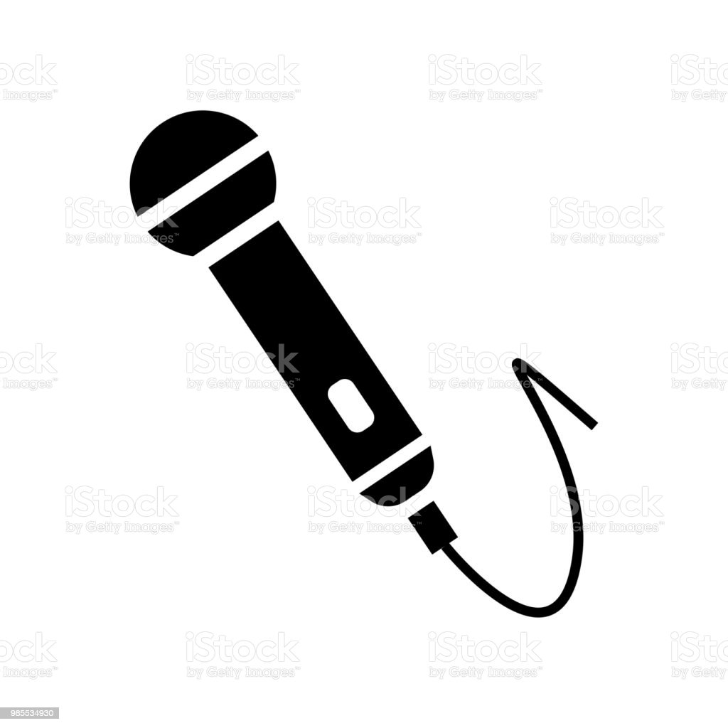 Microphone Icon Vector Icon Simple Element Illustration