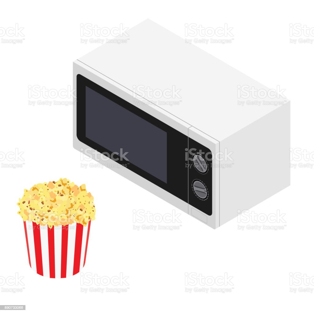 microwave popcorn clipart vector in ai svg eps or psd