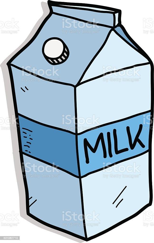 royalty free carton of milk clip