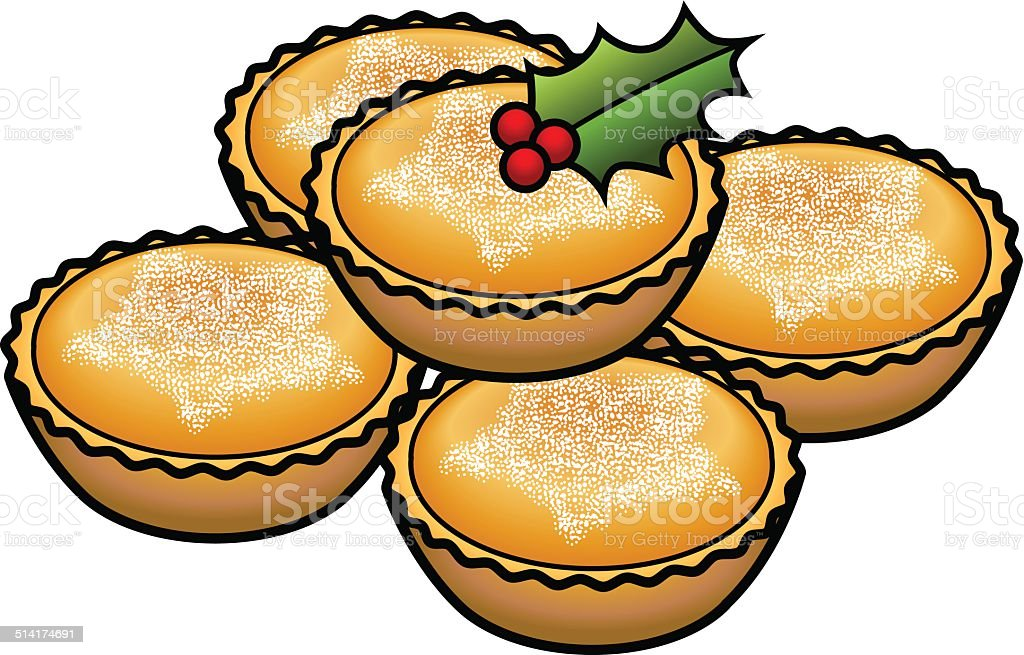 Mince Pies Stock Vector Art Amp More Images Of Baked 514174691 Istock