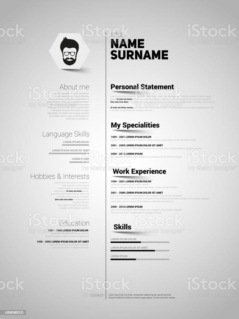 simple resume template adobe illustration