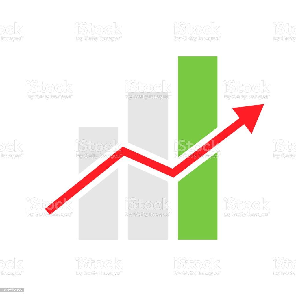 mobile graph vector icon