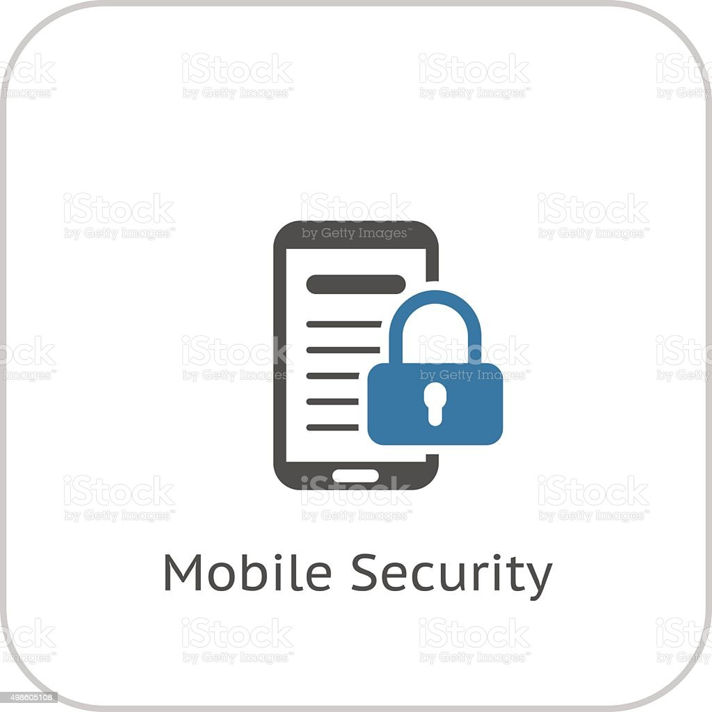 Mobile Security Icon Flat Design Stock Vector Art & More