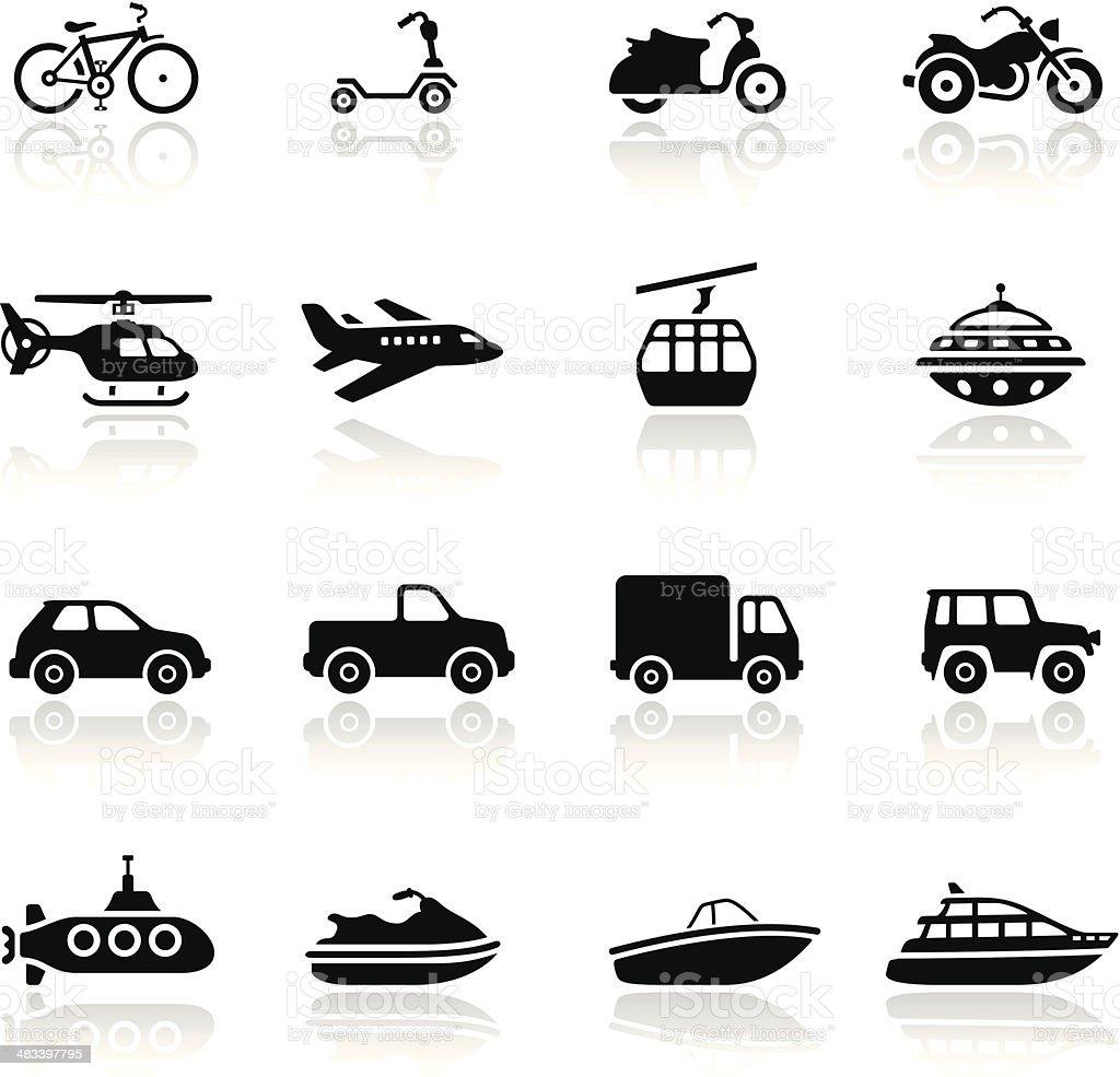 Transportmittel Iconset Stock Vektor Art und mehr Bilder