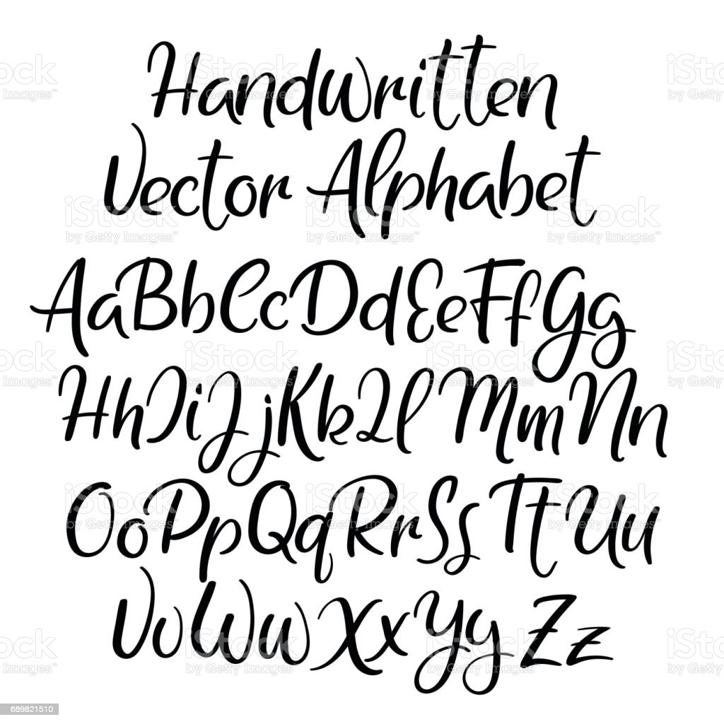 Style De Calligraphie Moderne Alphabet Polices Manuscrites