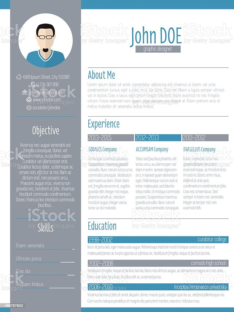 competence cv word illustration