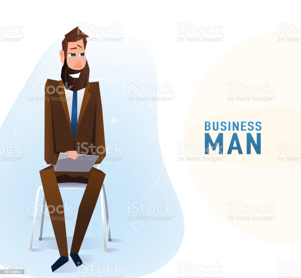 Chairs For Tall Man Modern Tall Business Man In The Office Sitting On The Chair Stock