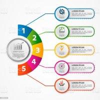 Modern Vector Illustration 3d A Circular Infographic ...