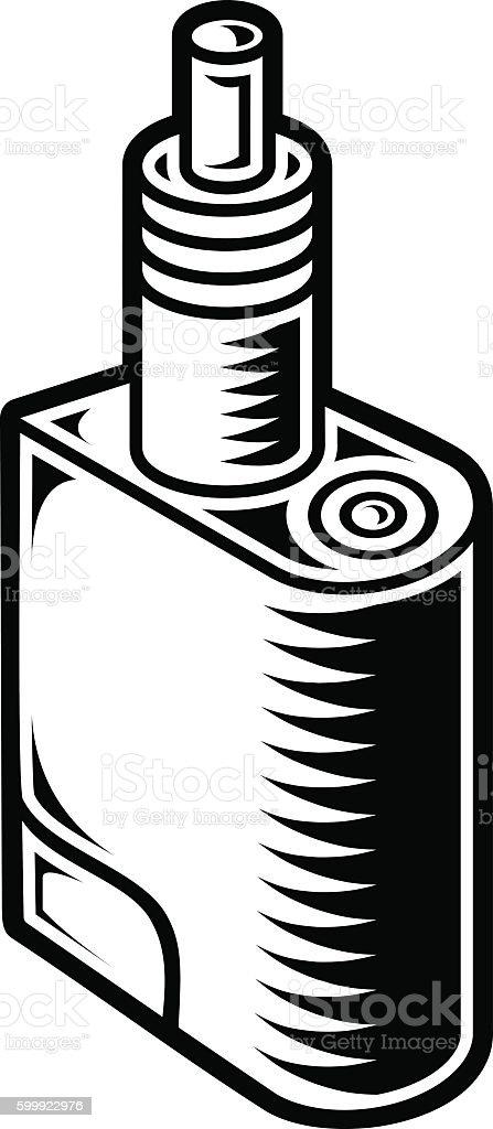 Mods Vaping Pen Vaping Electric Cigarette Stock Vector Art