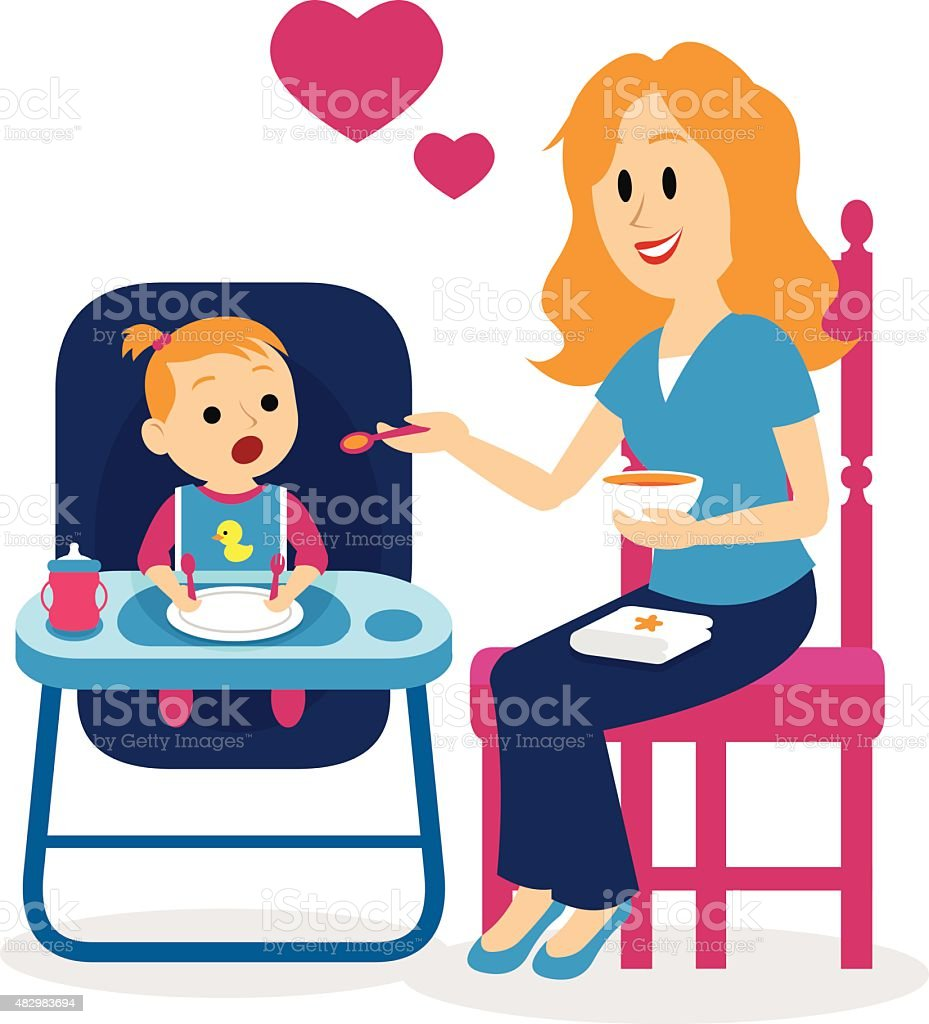 medium resolution of mom alimentar a su beb adorable ni a clipart ilustraci n de mom alimentar a su beb adorable