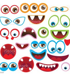 monster eye and mouth vector illustration royalty free monster eye and mouth vector illustration stock [ 1024 x 1024 Pixel ]