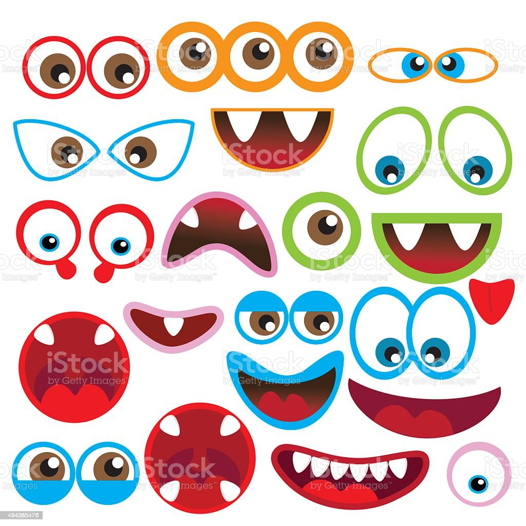 hight resolution of monster eye and mouth vector illustration royalty free monster eye and mouth vector illustration stock