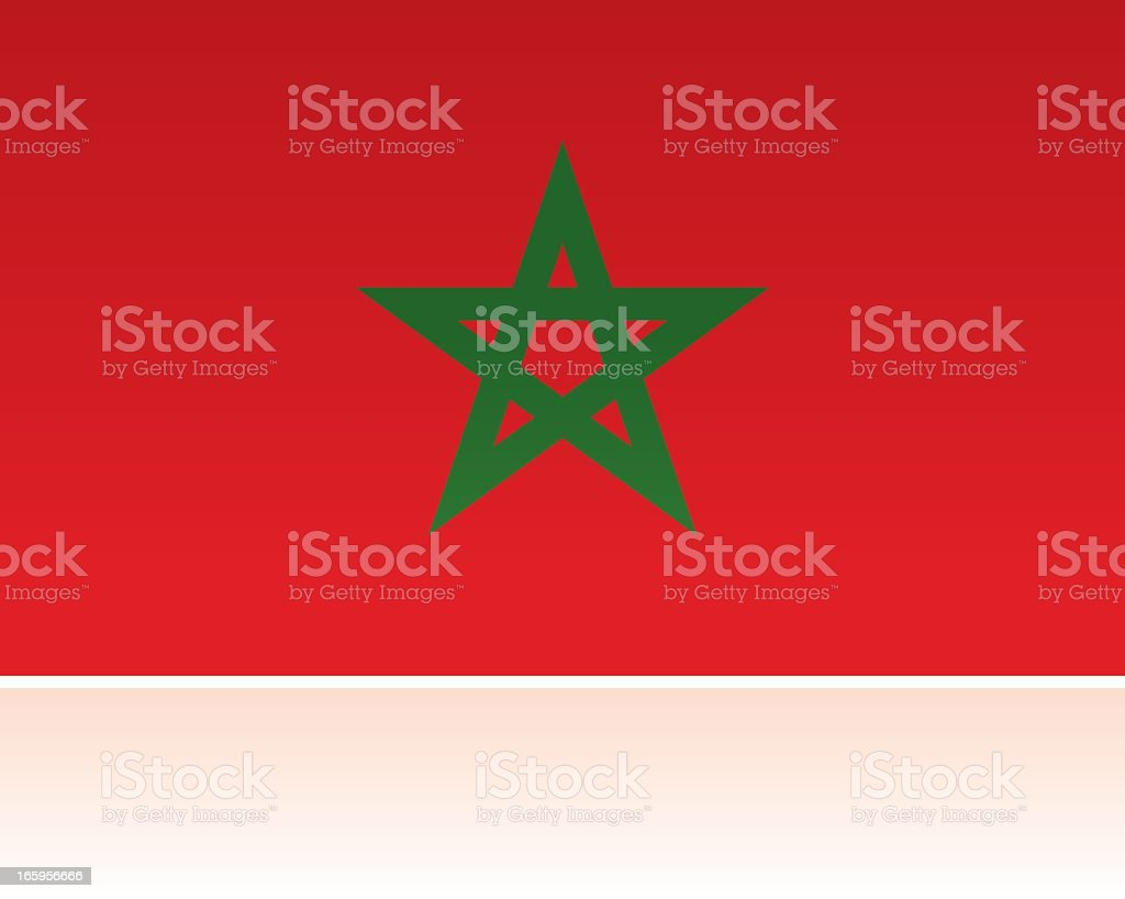 royalty free flag of morocco clip